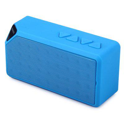 Cube X3 Wireless Mini Bluetooth V2.1 SpeakerSpeakers<br>Cube X3 Wireless Mini Bluetooth V2.1 Speaker<br><br>Audio Source: Bluetooth Enabled Devices,TF/Micro SD Card,U-disk, Bluetooth Enabled Devices,TF/Micro SD Card,U-disk<br>Battery Capacity: 550-600mAh, 550-600mAh<br>Bluetooth Version: V2.1+EDR, V2.1+EDR<br>Charging Time: 2H, 2H<br>Color: Black,Blue,Green,Red,Yellow, Black,Blue,Green,Red,Yellow<br>Compatible with: PC, Tablet PC, MP5, TF/Micro SD Card, MP4, MP3, TF/Micro SD Card, Mobile phone, MP3, PC, MP4, Laptop, iPhone, MP5, iPhone, Laptop, Tablet PC, Mobile phone<br>Connection: Wireless, Wireless<br>Design: Mini, Multifunctional, Stylish, Portable<br>Functions: Stereo, Songs Track, AUX Function, Stereo, Songs Track, AUX Function<br>Interface: Power Charge Port, SD Card Slot, Mini USB, Power Charge Port, SD Card Slot, Mini USB, TF Card Slot, TF Card Slot<br>Material: Metal, Metal, Plastic, Plastic<br>Model: X3<br>Package Contents: 1 x X3 Wireless Bluetooth Speaker, 1 x USB Power Cable, 1 x Audio Cable, 1 x Bilingual User Manual in English and Chinese, 1 x X3 Wireless Bluetooth Speaker, 1 x USB Power Cable, 1 x Audio Cable, 1 x Bilingual User Manual in English and Chinese<br>Package size (L x W x H): 13.20 x 5.80 x 4.00 cm / 5.2 x 2.28 x 1.57 inches, 13.20 x 5.80 x 4.00 cm / 5.2 x 2.28 x 1.57 inches<br>Package weight: 0.2300 kg, 0.2300 kg<br>Product size (L x W x H): 10.80 x 5.40 x 3.50 cm / 4.25 x 2.13 x 1.38 inches, 10.80 x 5.40 x 3.50 cm / 4.25 x 2.13 x 1.38 inches<br>Product weight: 0.1690 kg, 0.1690 kg<br>Protocol: A2DP,AVRCP, A2DP,AVRCP<br>S/N: No less than 95dB, No less than 95dB<br>Supports: FM, Bluetooth, Hands-free Calls, Loudspeaker, Microphone, Volume Control, TF Card Music Playing, Hands-free Calls, SD Card Music Playing, Microphone, Loudspeaker, WiFi Connected, WiFi Connected, Volume Control, FM, TF Card Music Playing, Bluetooth, SD Card Music Playing<br>Transmission Distance: W/O obstacles ?10m, W/O obstacles ?10m<br>Working Voltage: 5V / 500mA, 5V