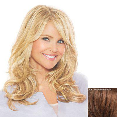 Human Hair Stylish Bouffant Wavy Long Side Bang Capless Wig For Women