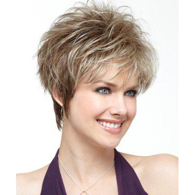 Fluffy Wavy Capless Short Inclined Bang Synthetic  Wig