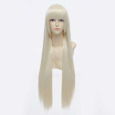 Attractive Glossy Straight Extra Long Full Bang Gloden Milk Eruda and Yukinokouji Nobara Cosplay Wig