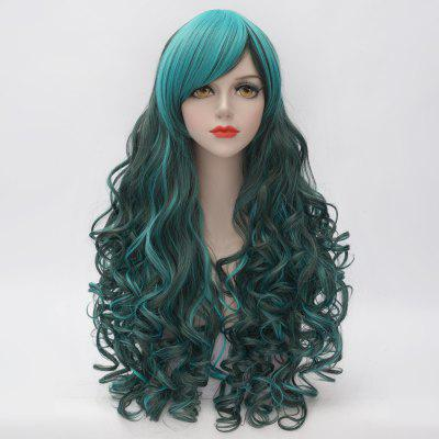 Buy COLORMIX Stunning Long Side Bang Fluffy Curly Heat Resistant Synthetic Highlight Capless Women's Cosplay Wig for $18.60 in GearBest store