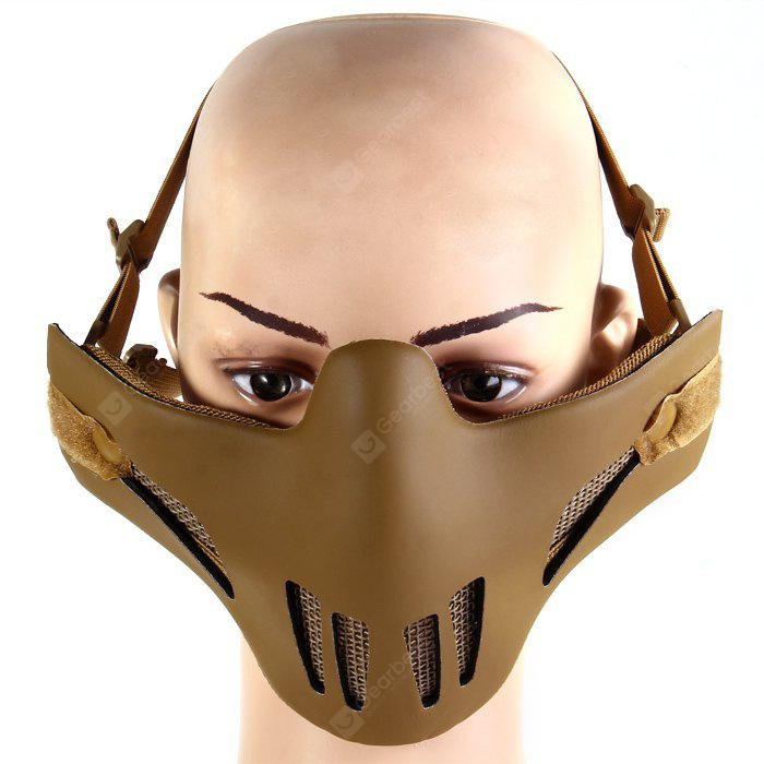 Durable Iron Wire Mesh Half Face Airsoft Mask