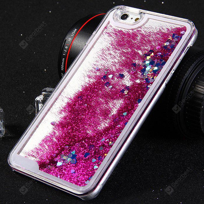 PC Protective Back Cover Case Heart Shaped Sequins Design for iPhone 6 - 5.5inch