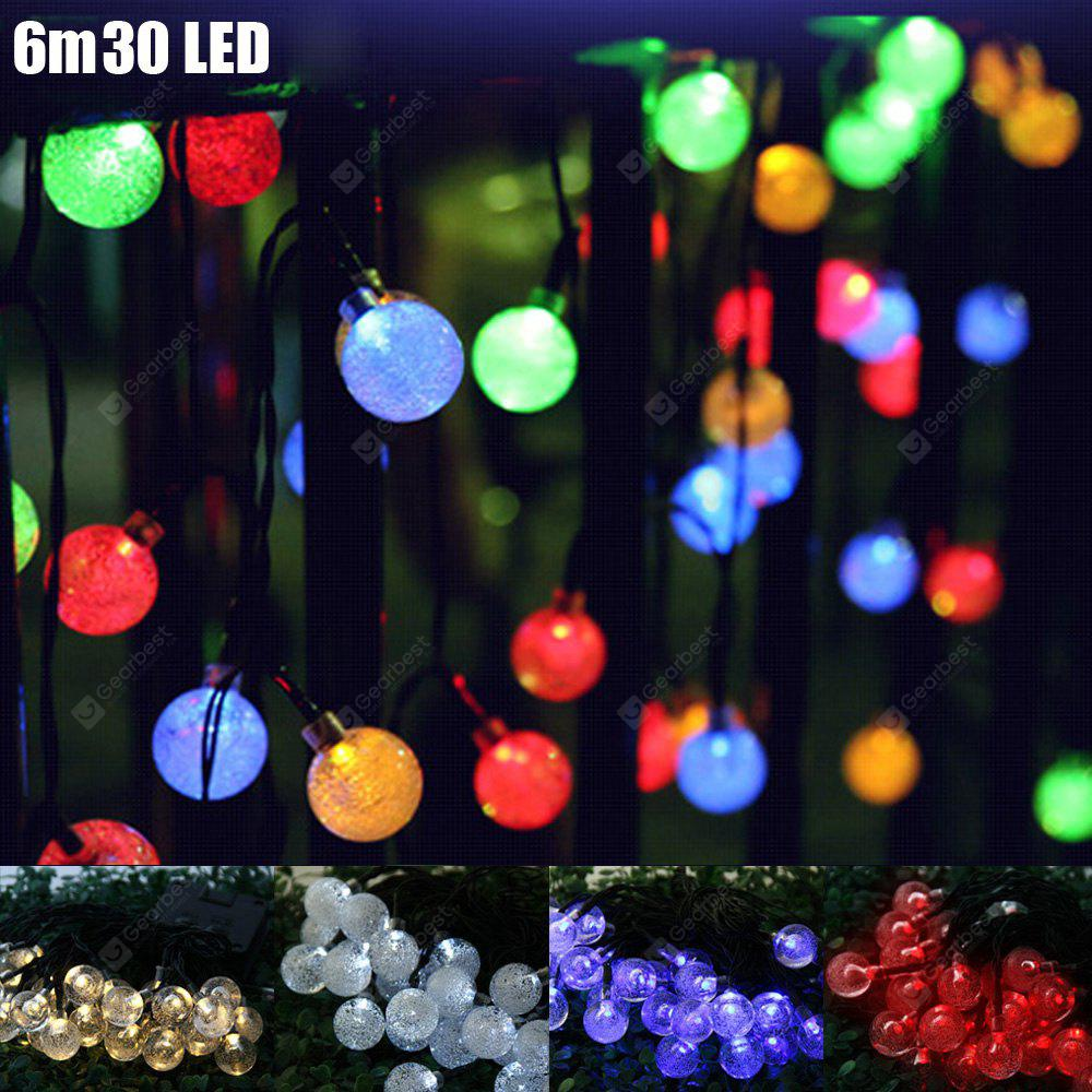 VCT - SIC055 6m 30 LED Solar String Light - Bubble Shape