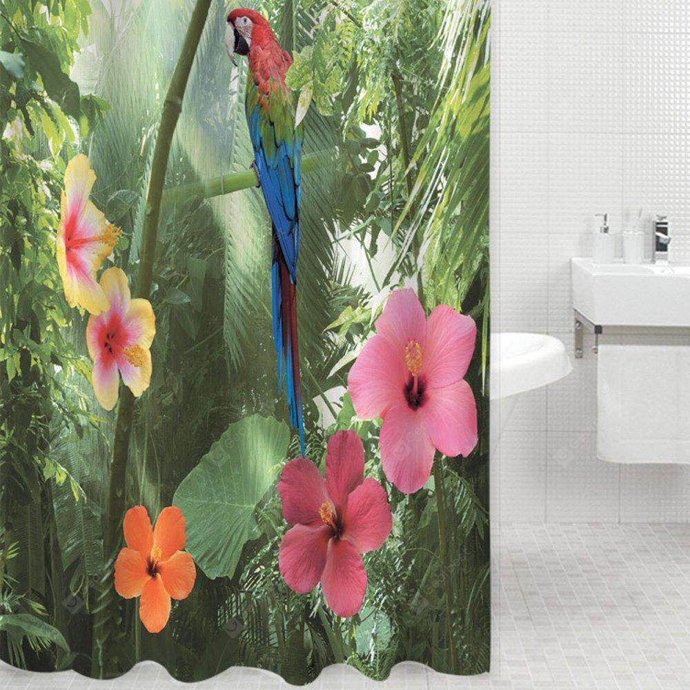 3D Waterproof Polyester Shower Curtain