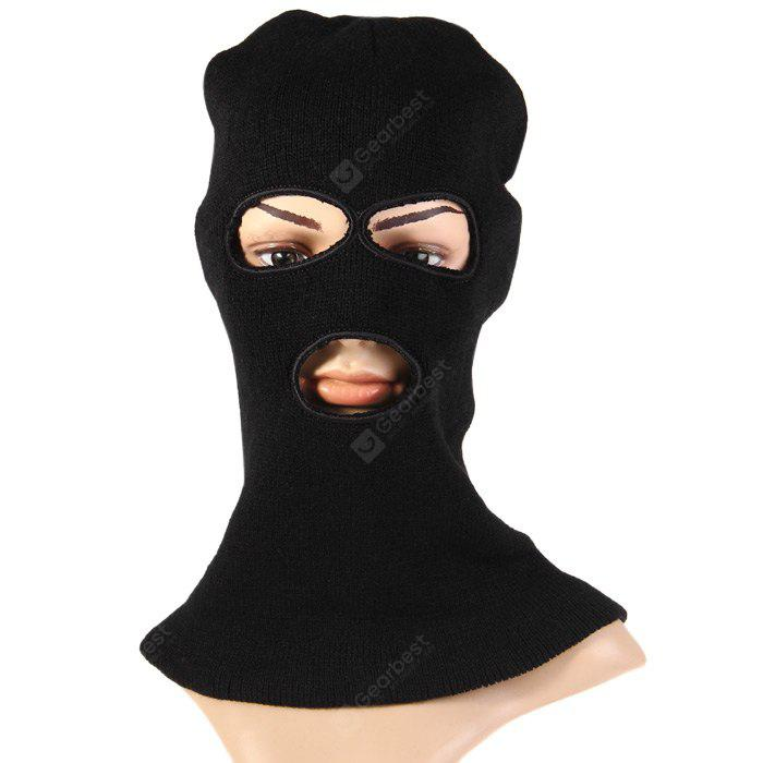 3-holes Knit Face Mask Balaclava Hat for Winter Activities