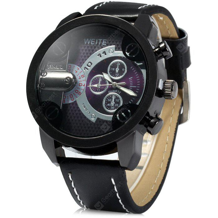 weite brand index leather men watches