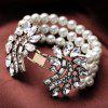 cheap Luxury Faux Pearl Rhinestone Layered Bracelet For Women
