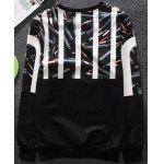 Buy Modish Fitted Round Neck 3D Bullets Pattern Long Sleeve Cotton Blend Sweatshirt Men BLACK