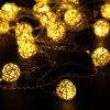 4m Rattan Ball LED String Light - WARM WHITE LIGHT