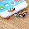 3.5mm Anti Dust Plug Diamond Design Earphone Jack Cap 10Pcs - RANDOM COLOR