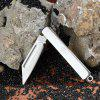 Sanrenmu A123 Portable Folding Knife for Outdoor Camping - SILVER