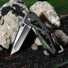 Sanrenmu 7049 LTI-PH Folding Knife Liner Lock BLACK HANDLE + BLACK BLADE