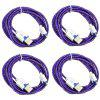 Micro USB 2.0 Male to Male Charging Data Cable - 4PCS - PURPLE
