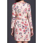 cheap Fashionable V-Neck Floral Print Chiffon Dress For Women