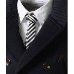 Knitted Lapel PU Leather Spliced Multi-Button Slimming Long Sleeves Men's Woolen Blend Thicken Peacoat - CADETBLUE