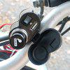 CS-313 Motorcycle Handlebar USB Charger - BLACK