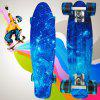 100kg Load Starry Sky Pattern Retro Skateboard - BLUE