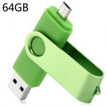 2 in 1 64GB OTG USB 2.0 Flash Drive