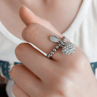 Chic Rhinestone Heart Stretchy Ring For Women