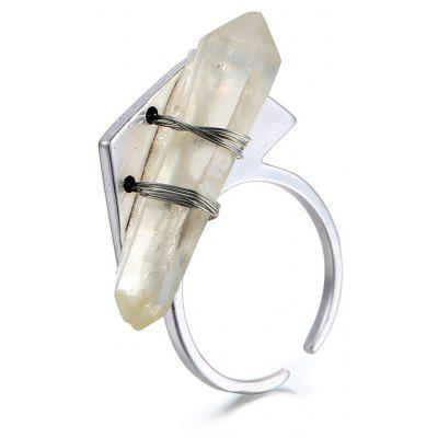 Bullet Shape Resin Cuff Ring For Women