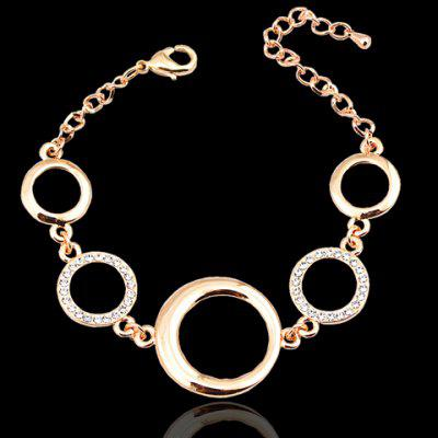 Trendy Hollow Out Round Rhinestone Bracelet For Women