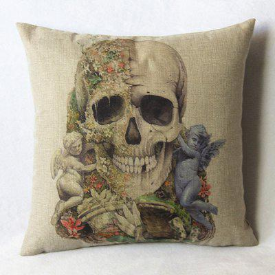 Casual Skull Pattern Decorative Pillowcase(Without Pillow Inner)