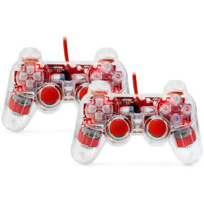 USB-800A 2PCS USB 2.0 Wired Gamepad