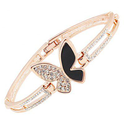 Graceful Rhinestoned Butterfly Bracelet For Women