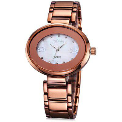 Weiqin 2696 Rhinestone Bezel Female Japan Quartz Watch