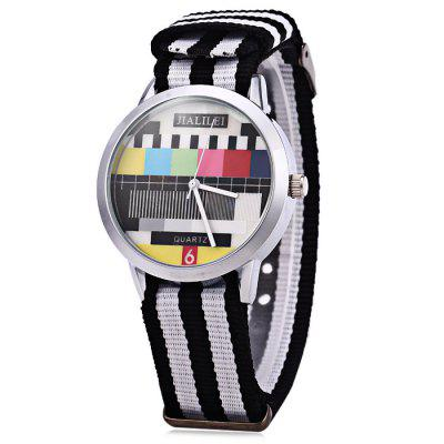 JIALILEI 58893 Canvas Band Male Quartz Watch