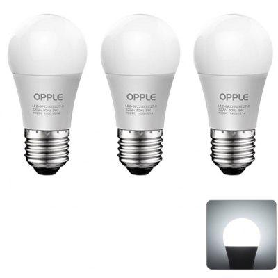 3 x OPPLE 8W E27 720LM 6000K Ampoule LED
