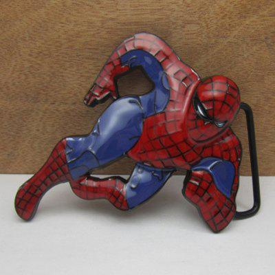 Stylish Spiderman Shape Embellished Alloy Belt Buckle For Men