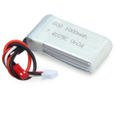 Spare 7.4V 1000mAh Battery Fitting for WLtoys V912 V915 MJX X600 X601H RC Drone