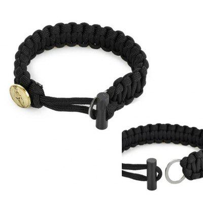 Outdoor Parachute Cord Bracelet with Fire Starter