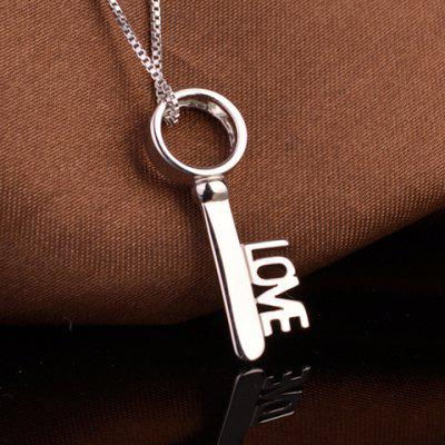 Love Key Shape Pendant