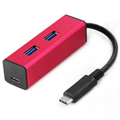 USB 3.0 Male to 2 Ports USB 3.0 USB-C Female Hub Adapter
