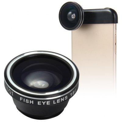 LIEQI LQ - 019 3 In 1 180 Degree Photo Lens