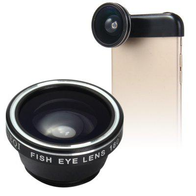 LIEQI LQ - 018 3 In 1 180 Degree Fisheye Photo Lens