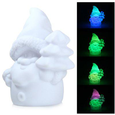 LED Santa Claus Design Night Light with Rainbow and White Light