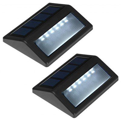 2pcs 6-LED Light Control Solar Garden Lamp