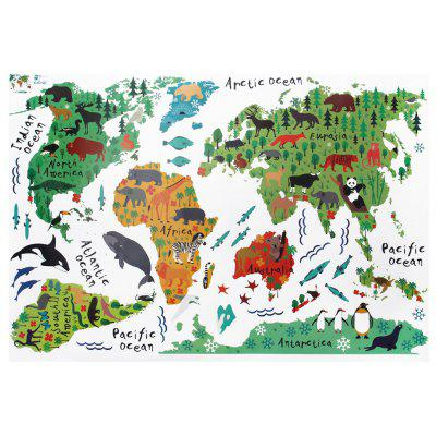 Zy037 cute animal world map wall sticker 471 online shopping zy037 cute animal world map wall sticker gumiabroncs Image collections