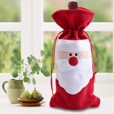 Red Wine Bottle Cover Bags Christmas Ornament