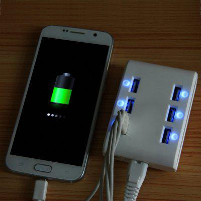 M561 6 LED 6 Ports USB Charger - EU Plug