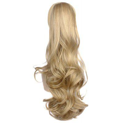 Prevailing Heat-Resistant Fibre Claw Clip Deep Blonde Long Fluffy Wave Women's Ponytail