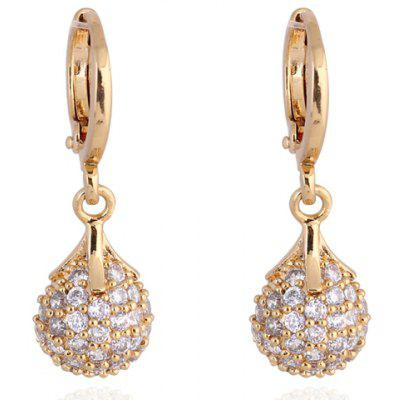Pair of Vintage Rhinestoned Water Drop Earrings