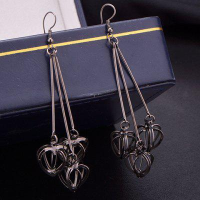 Stereoscopic Hollow Out Heart Earrings