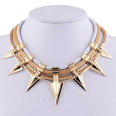 Characteristic Pointed Cone Rivet Layered Women's Necklace