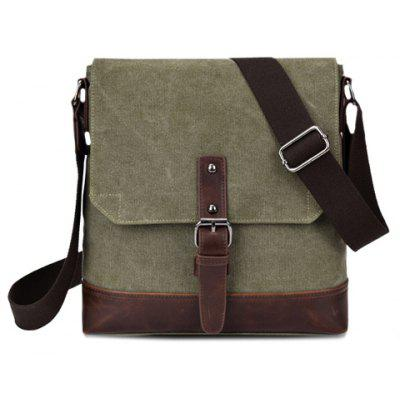Stylish Buckle and Splicing Design Men's Messenger Bag