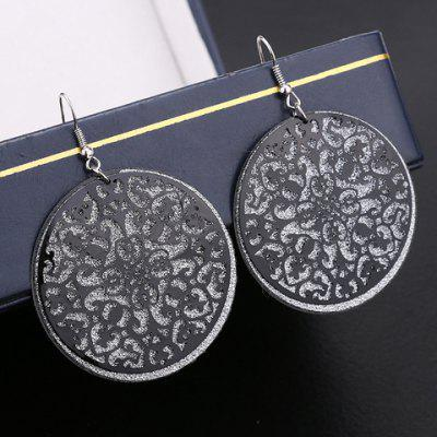 Pair of Vintage Flower Hollow Out Drop Earrings